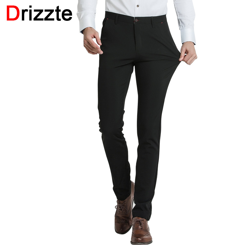 Drizzte Brand Mens Dress Pants Slim Fit Slacks Casual Formal Business Trousers 28 29 30 31 32 33 ...