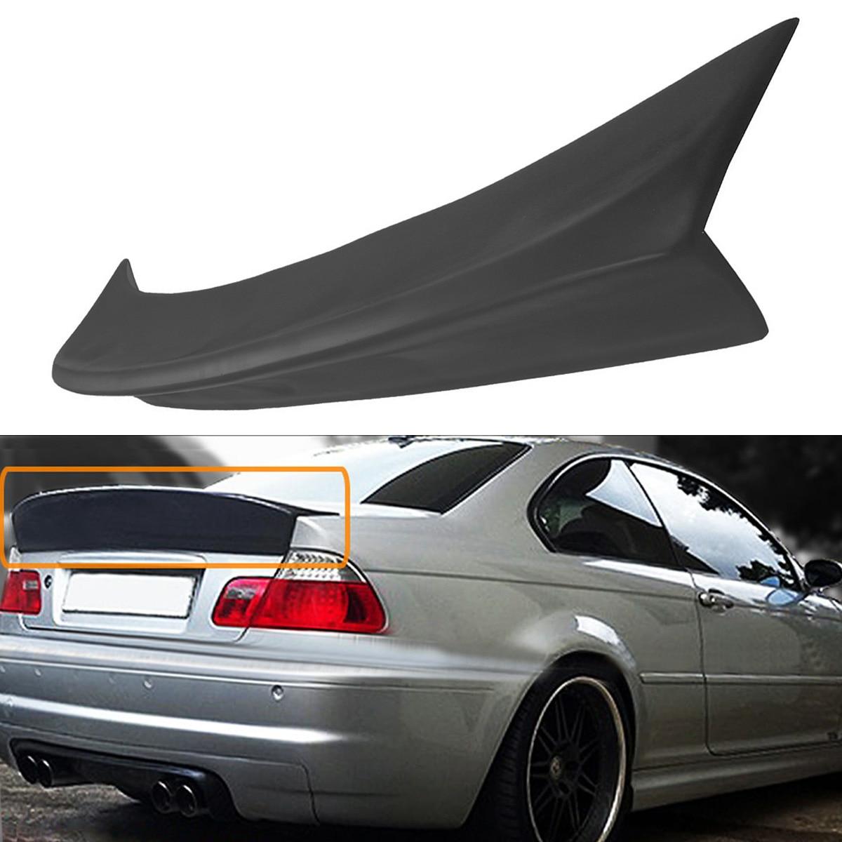 New Rear Polyurethane Trunk DuckBill HighKick Spoiler Wing Lid Spoiler for BMW E46 2DR Model M3 CSL Style 2001-2006 Black for bmw 3 series e46 m3 spoiler 2001 2002 2003 2004 2005 2dr 4dr black carbon fiber rear wing spoiler