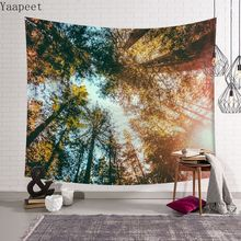 Forest Printed Home Psychedelic Tapestry Wall Hanging Beach Towel Beach Blanket Farmhouse Home Decor Tapestry Wall Hanging