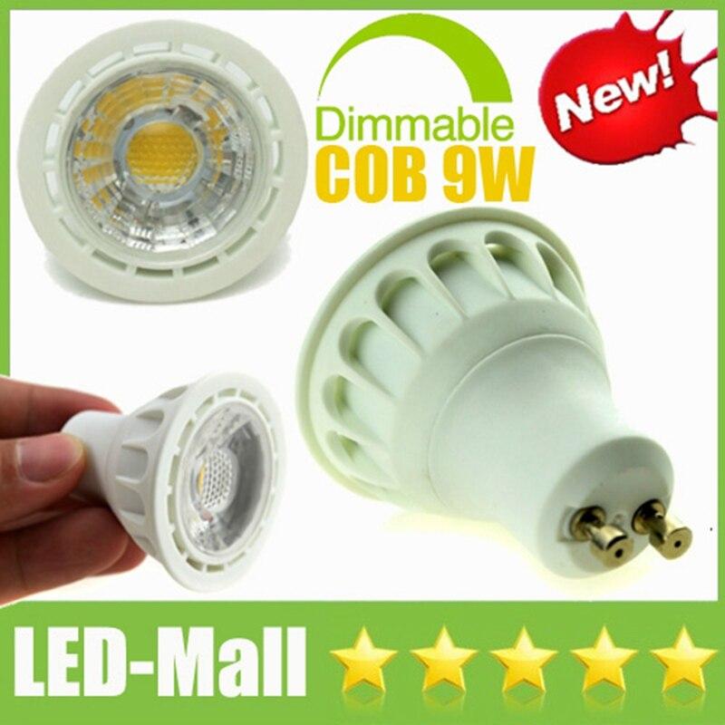 Popular Dimmable CREE COB 9W 900LM LED Spotlights GU10 E27 E14 MR16 GU5.3 CRI>88 Display Bombilla Spot Down Lights Bulbs Lamps