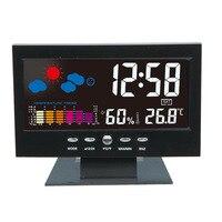 Multi Use LED Temperature Humidity Meter Clock Digital Display Weather Forecast Thermometer Hygrometer Calendar Alarm M25