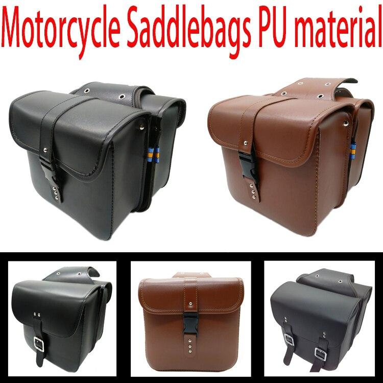 Motorcykel sadelväskor Village Vintage Saddlebag Prince Regal Raptor Fordonsidan box kant motorcykel Knight väska
