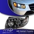 One-Stop Shopping Estilo para Hyundai Nueva Santa Fe Faros 2012 Santa Fe LED DRL Lente Doble Haz H7 HID Xenon Coche accesorios