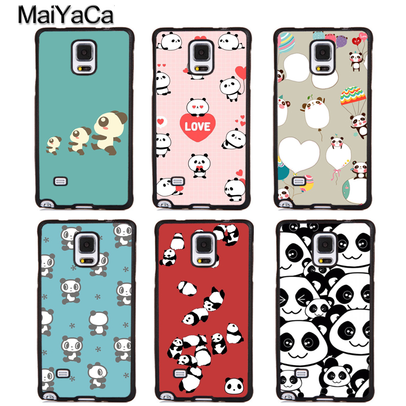 MaiYaCa Cute Panda Animals Soft TPU Phone Cases For Samsung Galaxy S4 S5 S6 S7 edge plus S8 S9 plus Note 4 5 8 Back Cover Coque