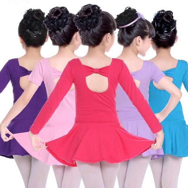 482e46fac Child Ballerina Bowknot Ballet Dress Dance Leotards Gymnastics Tutu ...