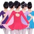 Niñas de algodón bowknot ballet profesional tutus dance competition dress para niños bailarina dancewear traje ropa de baile