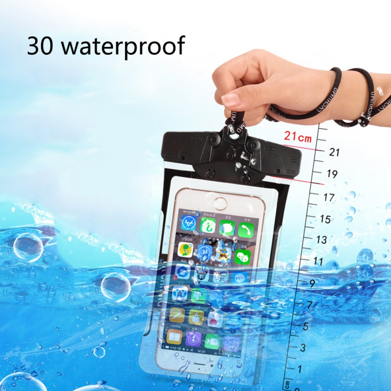 Swimming Bags Mobile Phone Waterproof Bag Underwater Drifting Swimming Outdoor Sports Touch Screen Sealed Pouch With Lanyard