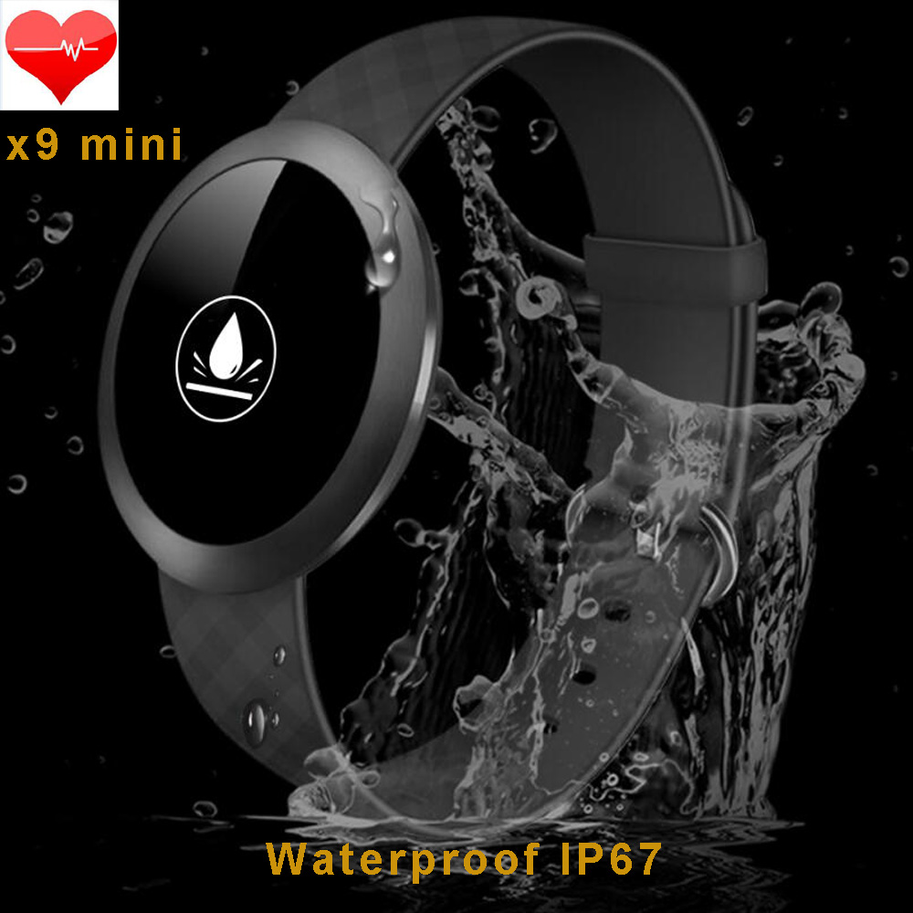 ФОТО Smartband X9 Mini Waterproof Bluetooth bracelet Dynamic Heart Rate Monitor for ios Android Health Tracker Call/Message Reminder
