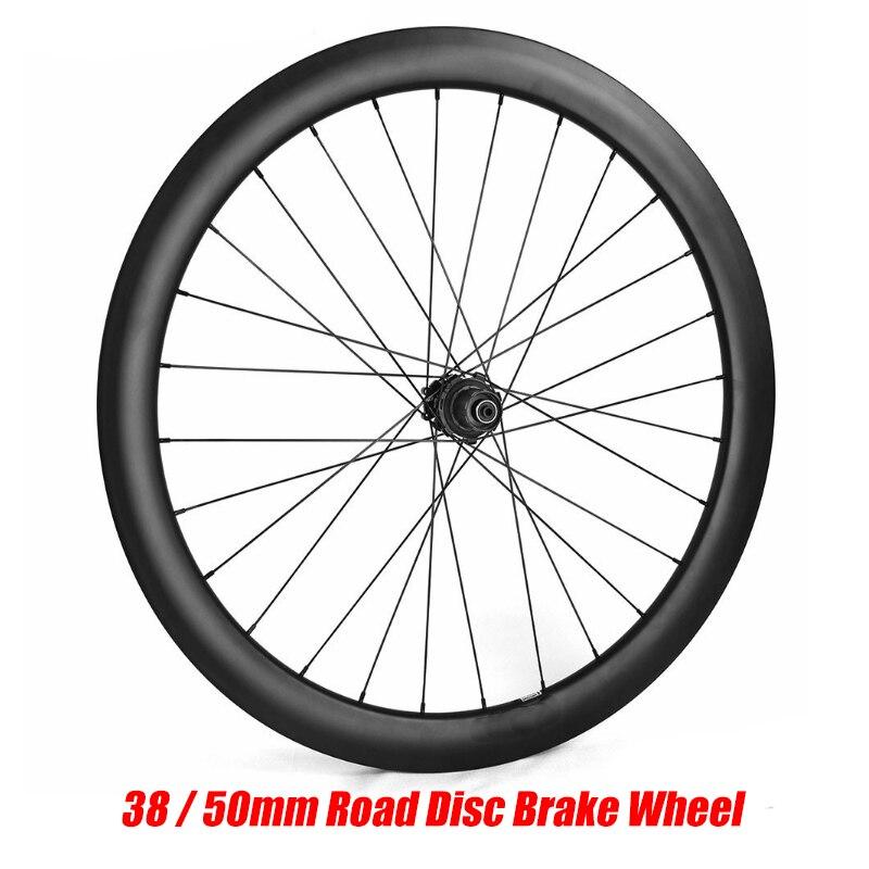 Roue de frein à disque de route 700C 38mm 50mm tubulaire Tubeless NOVATEC 411/412 Cyclocross vélo roue en carbone jante de vélo