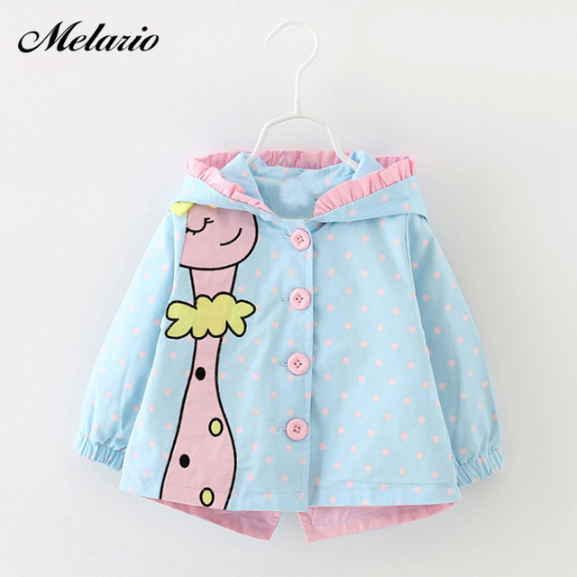 Baby Outwear 2019 New Winter Baby Girls fashion cartoon hooded Coats Cute Baby Jackets Kids Girls Clothes For Children Clothing