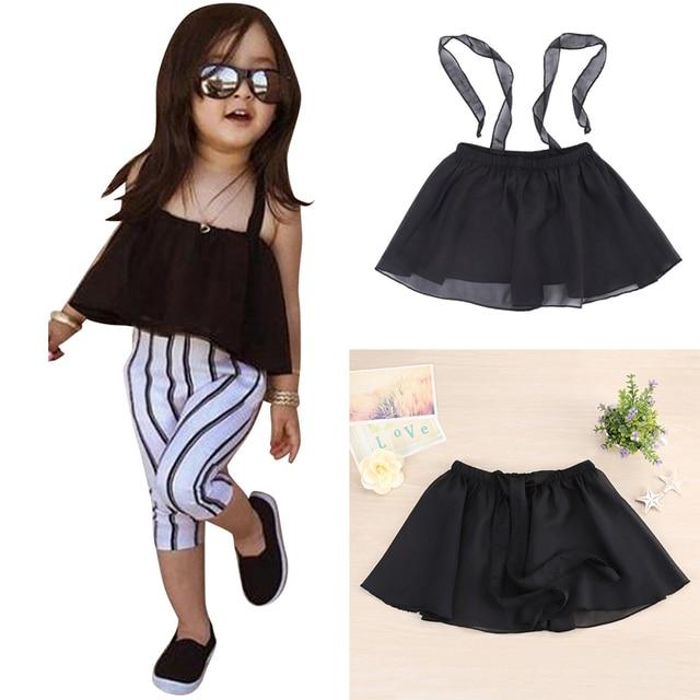 124f41a7d طفل بنات أحد كبار اللباس الاطفال الرضع فتاة ملابس الصيف الشاش حمالة اللباس  قمم ملابس الأطفال