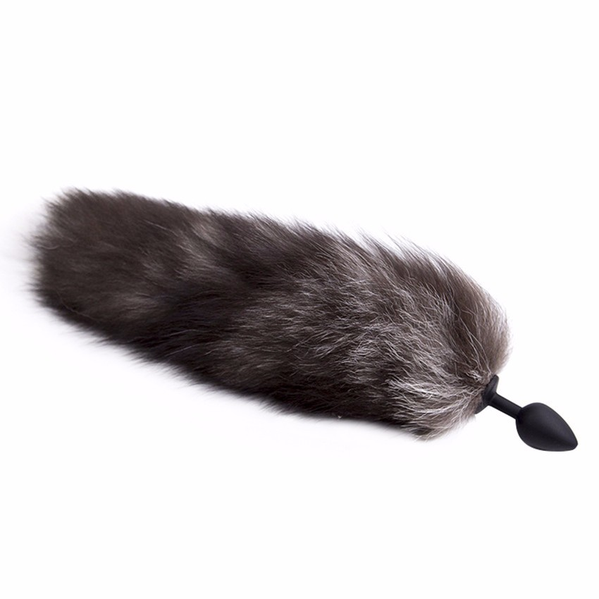 Zerosky Silicone Butt Plug Black Fox Tail Anal Plug Sex Toys For Women Adult Games Sex Products 3