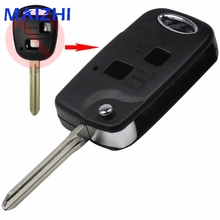 maizhi 2 Buttons Remote Folding Flip Car Key Shell Case For Toyota Yaris Carina Corolla Avensis Cover