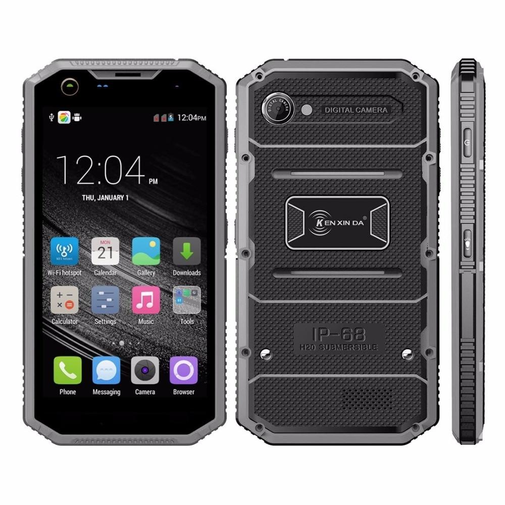 5.0 inch ken xin da proofing w7 ip68 waterdicht schokbestendig stofdicht 1 GB/16 GB Android 5.1 MTK6735 Quad Core 4G Mobiele telefoon