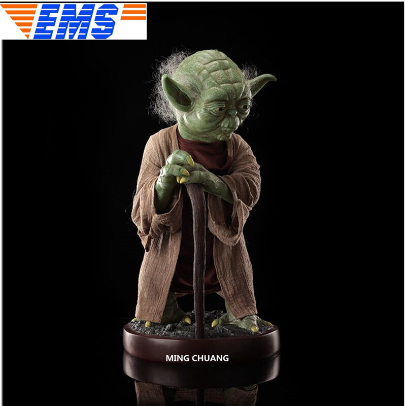 "33""Statue Star Wars Bust 1/1 Yoda Jedi.Jedi Knight Full-Length Portrait Vinyl Action Figure Collectible Model Toy D421"
