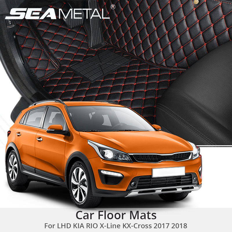 LHD Floor Mats For KIA RIO X-Line KX Cross 2017 2018 Custom Rug X Line KX-Cross Auto Interior Foot Pads Car Accessories Styling