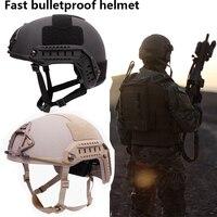 NIJ IIIA военный Быстрый баллистический шлем Aramid пуленепробиваемый hel Военная тактика SWAT высокий разрез баллистический Тактический шлем
