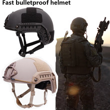 NIJ IIIA Military Fast Ballistic Helmet Aramid bulletproof hel Military Tactics SWAT High Cut Ballistic Tactical Helmet(China)