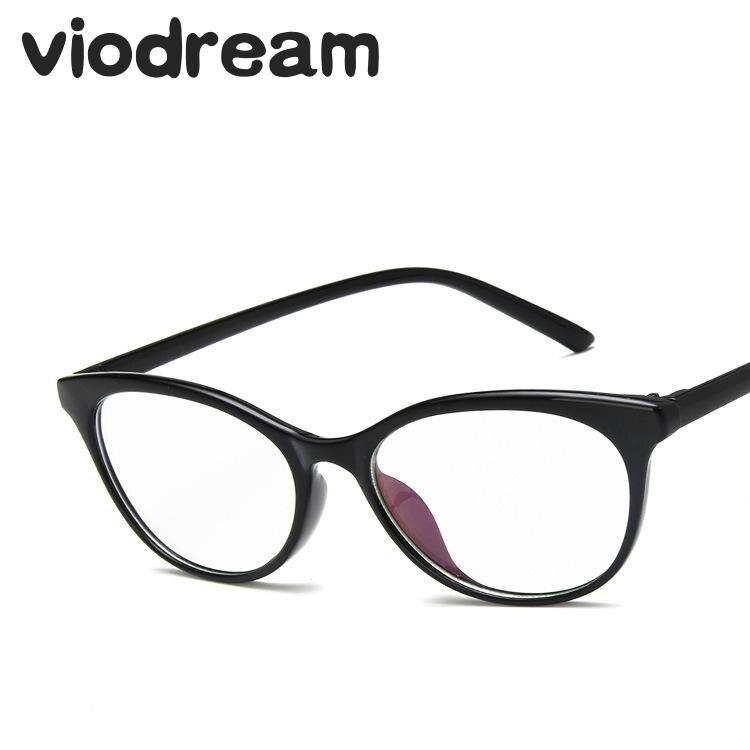 Viodream Titânio Plástico Moda Olho de Gato Óculos de Armação de Computador Óculos de Prescrição de Óculos Armação de óculos Oculos de grau