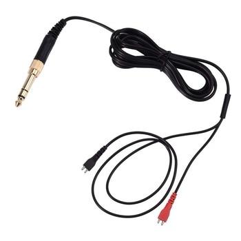 Değiştirilebilir ses kablo tel Sennheiser HD25 HD25-1 HD25-1 II HD25-C HD25-13 HD 25 kulaklık 6.3 fiş