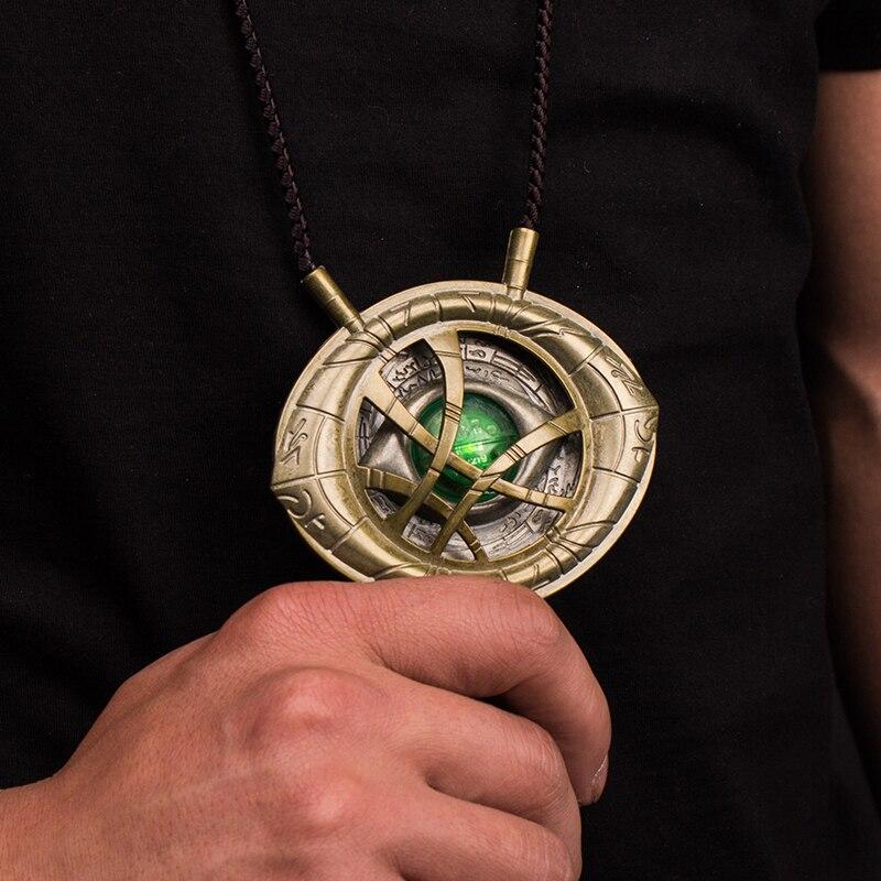 Les Avengers docteur collier étrange oeil d'agamotto le temps de la pierre construction métal complet