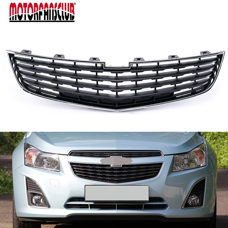For Chevrolet Cruze 2011 2012 2013 2014 Front Lower Center Grille Chrome Black Radiator Hood abs chrome front grille around trim for ford s max smax 2007 2010 2011 2012