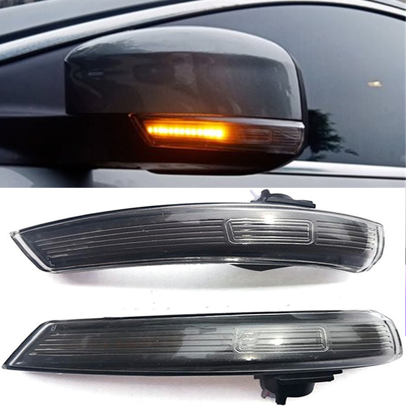 2 pieces Dynamic Turn Signal Light LED Side Wing Rearview Mirror Indicator Blinker Repeater Light For