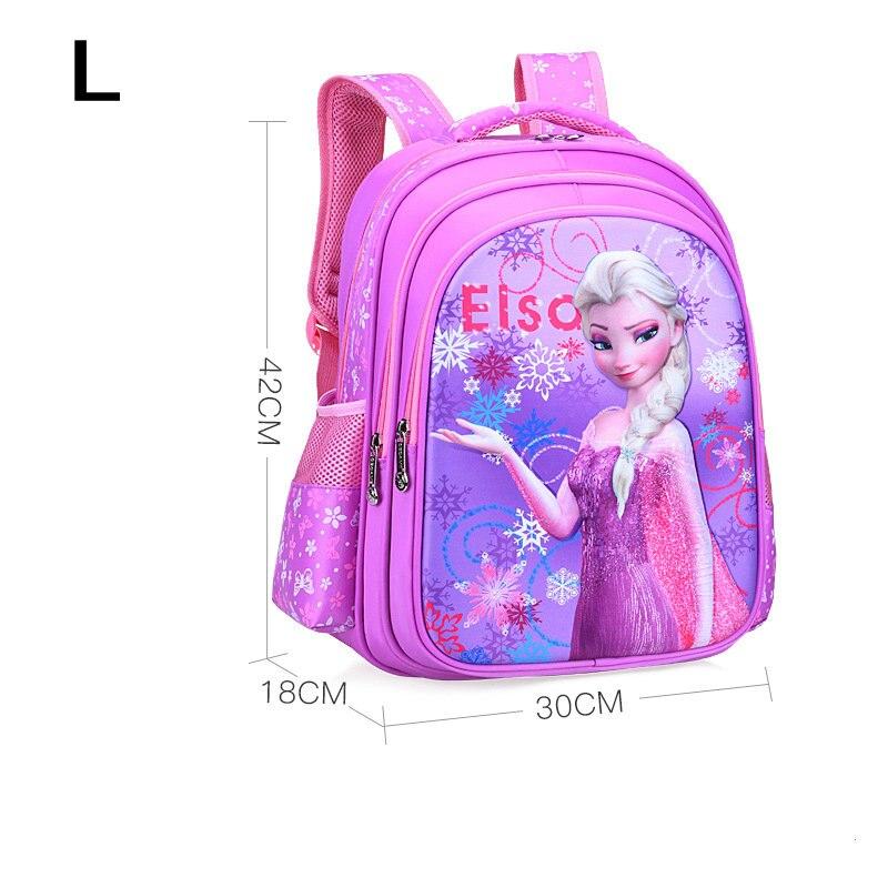 New Kids Cartoon Elsa Anna Schoolbag Girls Princess Cute School Bag Children Backpacks For Grade 1-6 In Stock