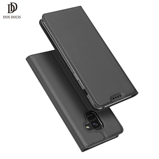 wholesale dealer e1b17 47f2f US $12.84 |DUX DUCIS Luxury Leather Case For Samsung Galaxy A8 Plus 2018  Wallet Flip Cover for Galaxy A8 Plus + (2018) A730 6.0 Phone Bags-in Flip  ...