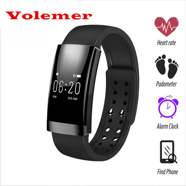 Volemer Fashion MS01 Bluetooth Fitness Tracker Band Heart Rate Monitor Sport Call Message Reminder Smart Bracelet