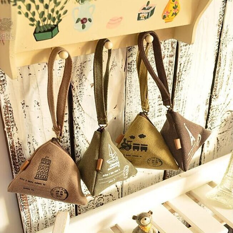 10 Pieces Vintage Cornucopla Zipper Coin Purse Holders Cute Small Money Bag Pouch Retro Wallet For Girls Children Kawaii Bags
