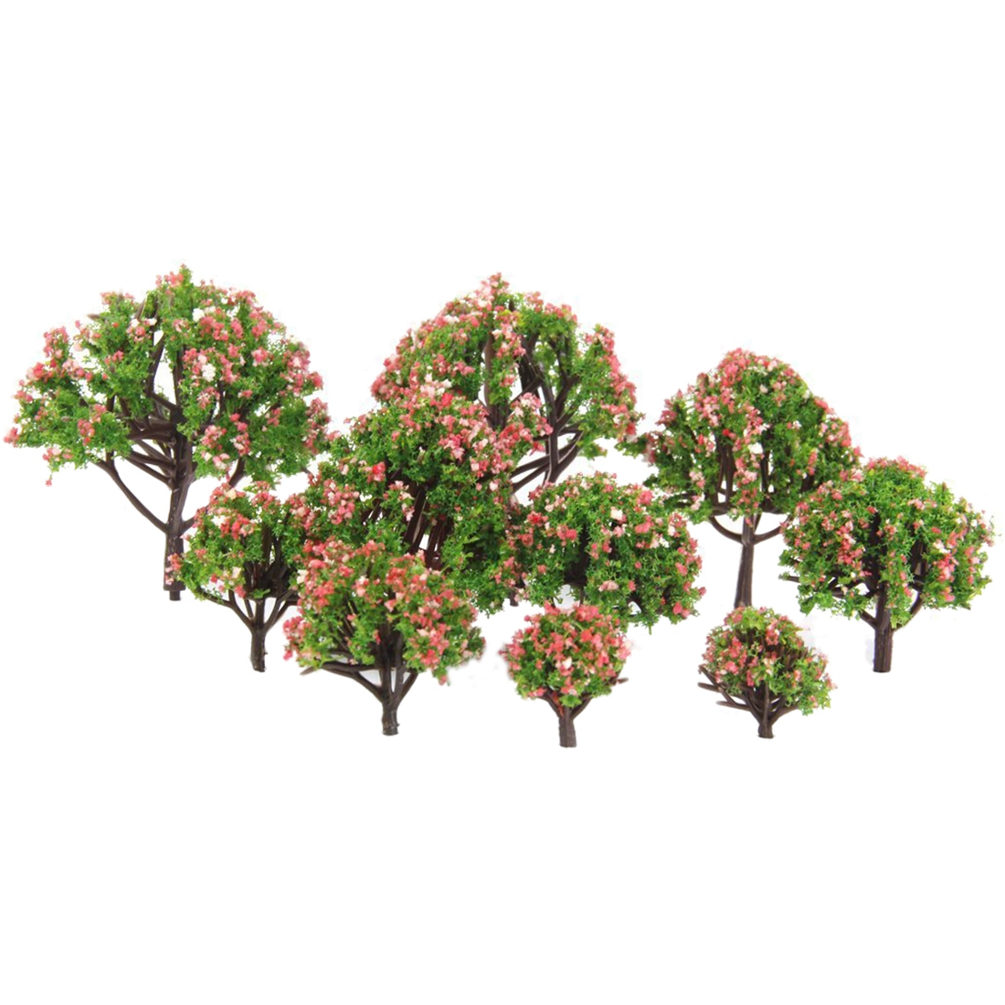 MACH Plastic peach trees model railway railway landscape scale 1:75 - 1: 500