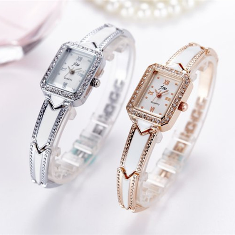 Luxury Brand Bracelet Watches Women Stainless Steel Wristwatches Ladies Dress Quartz Watches Clock Montre Femme Hodinky 2019