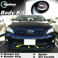 For TOYOTA Corolla Bumper Lip / Front Spoiler For Top Gear Friends to Car Tuning / TOPGEAR Body Kit / Strip Skirt