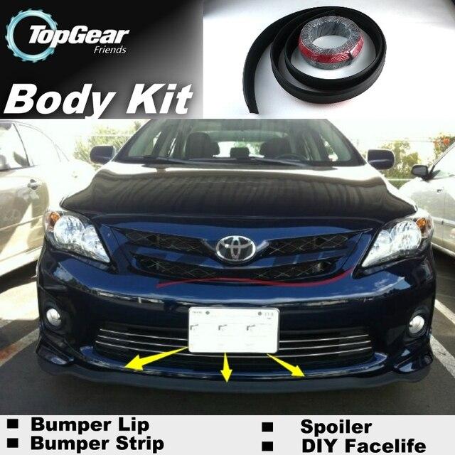 For Toyota Corolla Bumper Lip Front Spoiler For Top Gear Friends