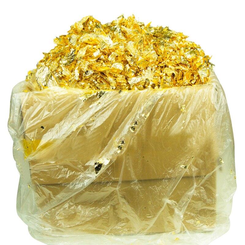 1 kg Imitation feuille de flocon d'or, utilisé pour ornement, verre, artisanat, dessin, accessoires de décoration de la maison, sécurité, livraison gratuite-in Artisanat Papier from Maison & Animalerie    1