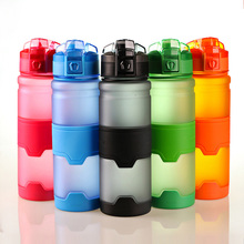 5 Colors 380ml / 500ml Frosted Sports Bottle Eco Plastic Space  New Childrens Anti-fall Water Bottles