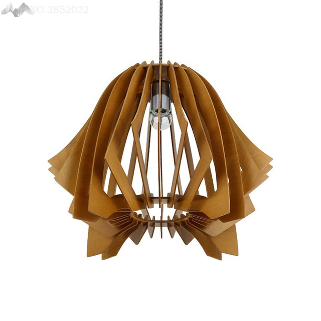 JW_Nordic Stijl Landelijke Creatieve Massief Houten Hanglamp ...
