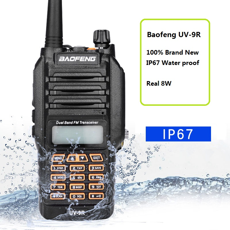 BAOFENG UV-9R Two Way Ham Radio Dual Band 136-174//400-520Mhz Walkie Talkie black