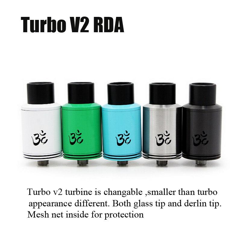 bilder für Neue Turbo V2 RDA Zerstäuber RDA turbo v2 DIY Holt tropft Zerstäuber Einstellbaren Luftstrom fit 510 E Cig VS geschwindigkeit rda