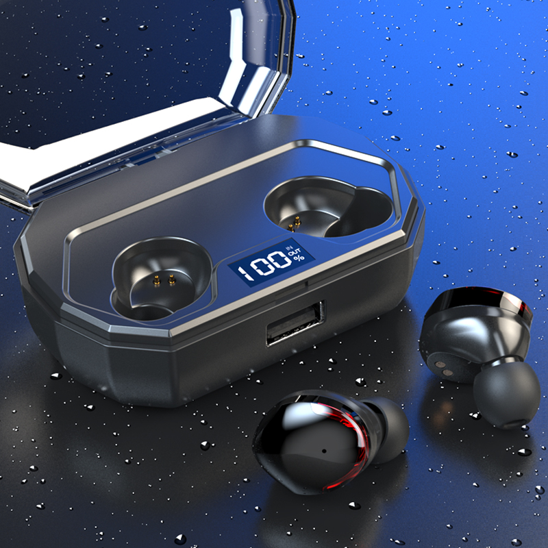 Image 5 - Bluetooth 5.0 TWS R10  Headset 5.0 Wireless Earbuds With Mic Waterproof For Smart Phone-in Bluetooth Earphones & Headphones from Consumer Electronics