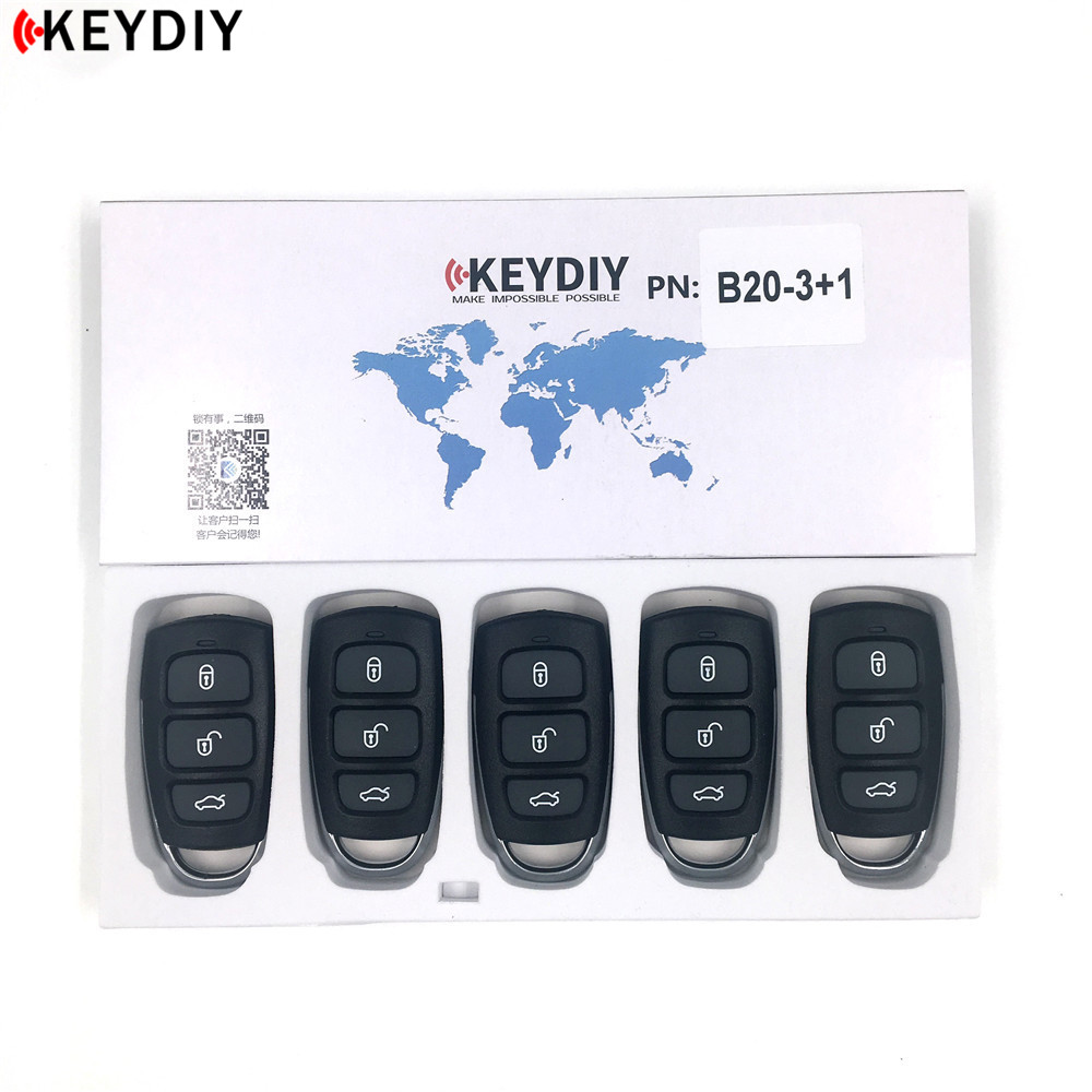 KEYDIY 5pcs lot KD900 B Series Remote B20 3 4 Car Key for KD MINI URG200