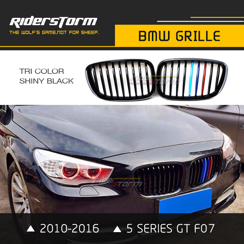 GT GRAN TURISM Front Grille Kidney Fit BMW F07 5-Series M Look Matte Black
