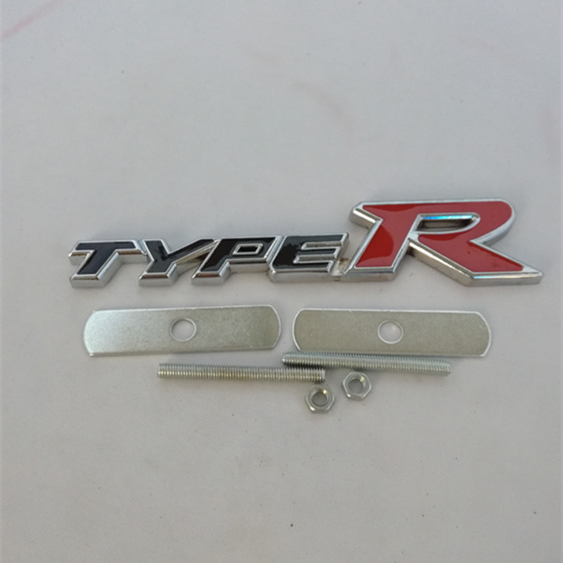 3D new TYPE R TYPER Chrome Emblem Trunk Badge Sticker Logo 2016 new emblem