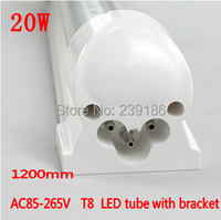 2PCS Lot LED Tube T8 1200mm 20W AC85 265V 4ft Lamp 2835SMD LED Light Cold White