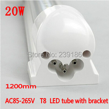 4PCS/Lot LED Tube T8 integration,1200mm 20W AC85-265V 4ft lamp,2835SMD LED Light Tube with bracket fluorescent tube