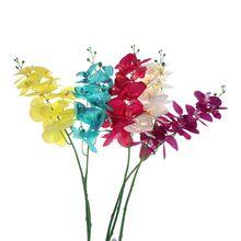 Large 93cm Long Stem Silk Fashion Artificial Orchid Phalaenopsis Flowers DIY Artificial Butterfly Silk Flower Bouquet Decoration цена и фото