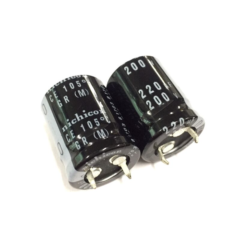 2PCS/10PCS <font><b>220uf</b></font> <font><b>200v</b></font> Nichicon GR 20x25mm 200V220uF Snap-in PSU Capacitor image