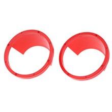 1 пара Водонепроницаемый автомобильный аудио 6,5 ''Dia динамик прокладки расширитель кольца красный