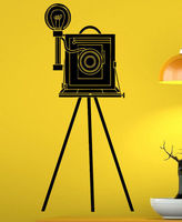 Free Shipping Photo Camera Vinyl Wall Decal Cinema Video Camera Movie Retro Interior Mural Art Wall Sticker Room Home Decoration